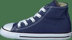 6e359edb89e9 Converse - Small Star Hi Canvas Navy