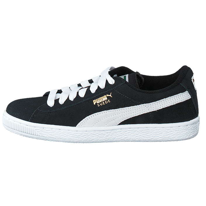Suede Jr Black White