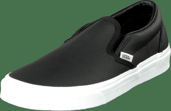 08ceef3983 Buy Vans Classic Slip-On (Perf Leather) Black black Shoes Online ...