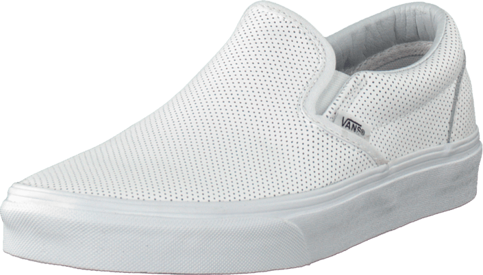 Classic Slip-On (Perf Leather) White