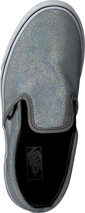 Classic Slip-On (Matte Iridescent) Silver