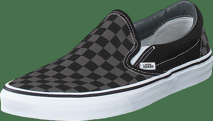 5fba483679 Køb Vans Classic Slip-On (Checkerboard) Black Pewter hvide Sko ...
