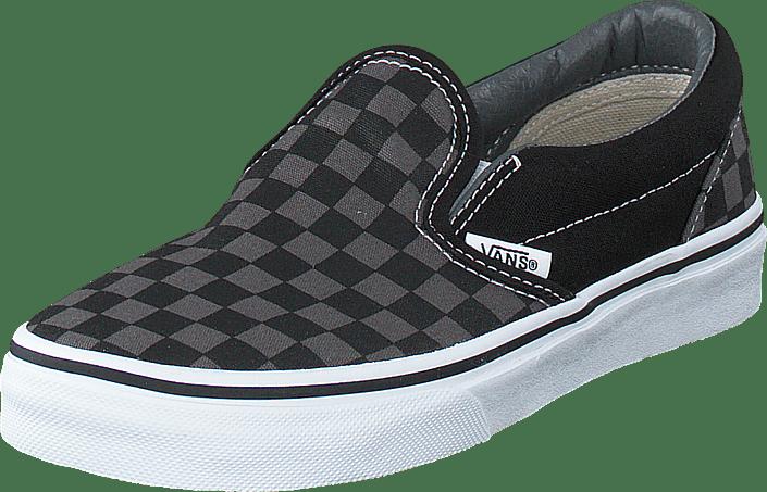 Vans Classic Slip On (Checkerboard) Blk Pewter svarta Skor Online