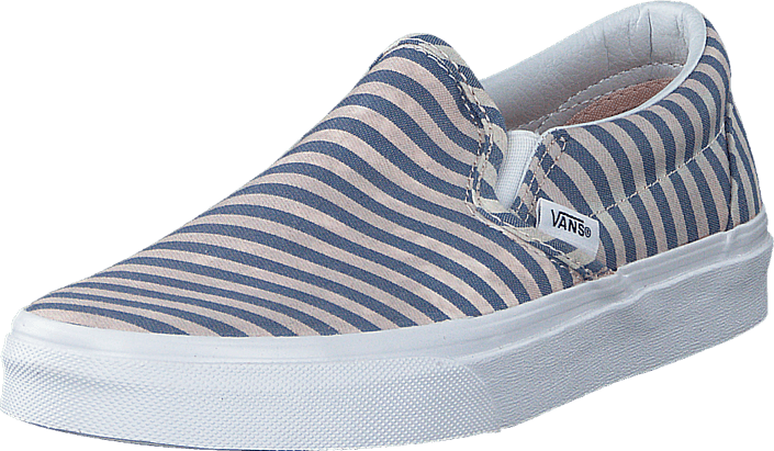 f15d7b64c4b3 Buy Vans Classic Slip-On (Stripes) Navy grey Shoes Online