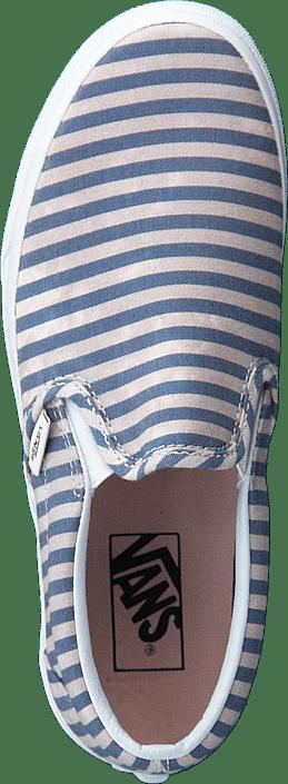 Kjøp Vans Classic Slip-on (stripes) Navy Sko Online