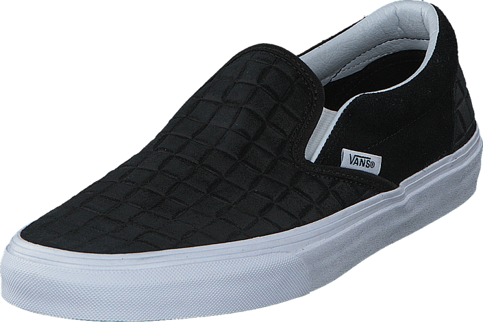 Classic Slip-On (Suede Checkers) black