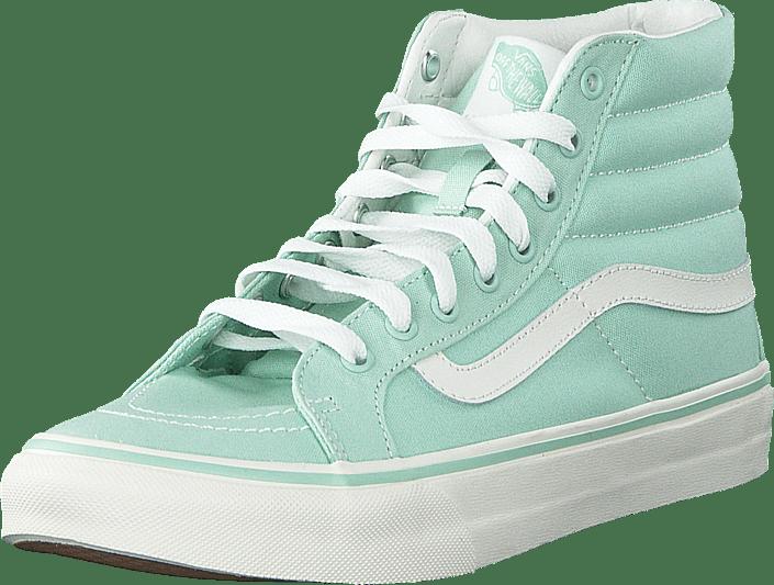 0a9ed9b467 Buy Vans SK8-Hi Slim Gossamer Green Blanc De Blanc grey Shoes Online ...