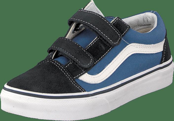4551ab063e0 Buy Vans Old Skool V Navy True White blue Shoes Online
