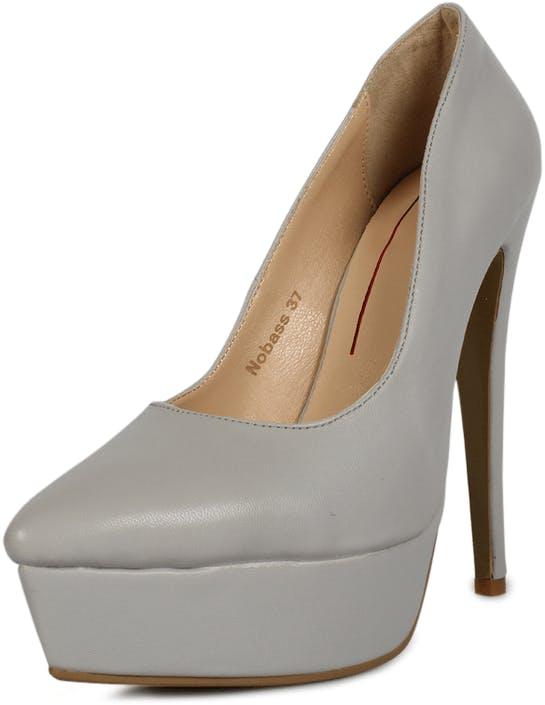 55ced1280a02b2 Nelly Shoes Nobass graue Schuhe Kaufen Online
