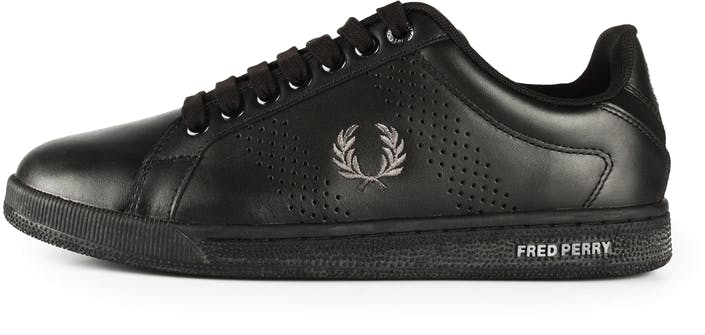 Fred Perry Park Side Leather Sneaker Whitenavy