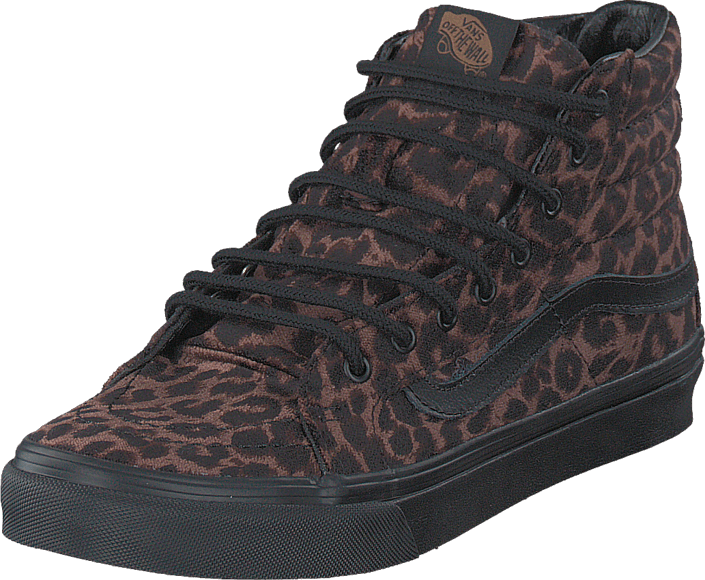 ee5497c22288 Buy Vans U Sk8-Hi Slim Suede Leopard black Shoes Online