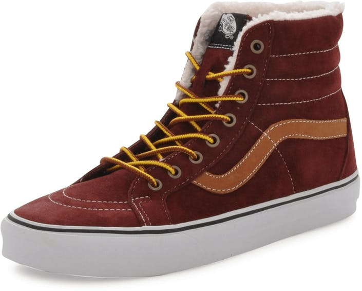 6ff5bacb11 Buy Vans U SK8-HI Reissue Pig Suede Fleece Red grey Shoes Online ...