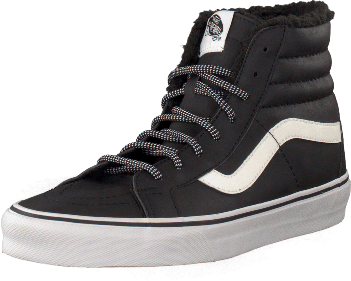 Osta Vans U Sk8-Hi Reissue Leather Fleece mustat Kengät Online ... 14424f7c3c