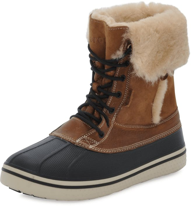Buy Crocs AllCast Duck Luxe Boot M Toffee Stucco brown Shoes Online ... b7329976d