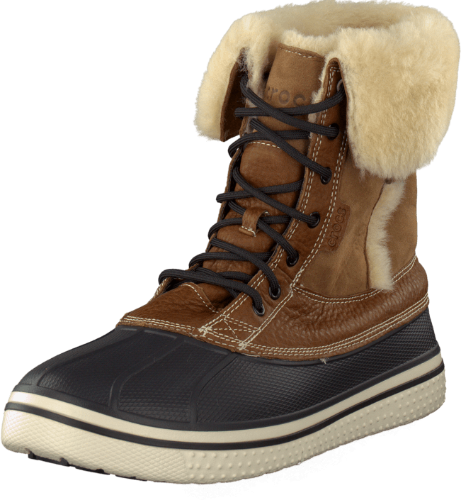 5906f618d Buy Crocs AllCast Duck Luxe Boot Men Toffee Stucco brown Shoes ...