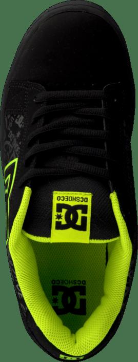 0608ded9 Kjøp DC Shoes Serial Graffik Black/Soft Lime sorte Sko Online ...