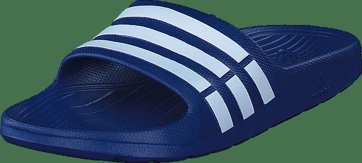 Adidas Sandaler Slide Blue Blue white Duramo Performance Sport Og Online Blå true True Kjøp Sko Tøfler gRdqOg