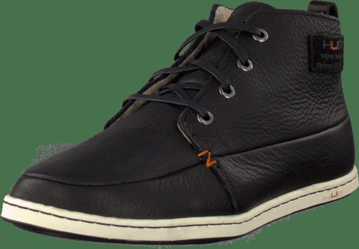 1fd4db8323c Køb Hub Footwear Subway Leather/Wool Black sorte Sko Online | FOOTWAY.dk