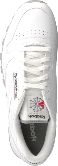 cd479375a67 Buy Reebok Classic Cl Lthr White Lt. Grey white Shoes Online ...