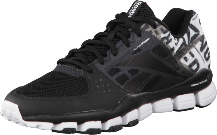 new products 8403f db1d9 Reebok - Realflex Transition 4.0 Gp-Black White Excellent Red