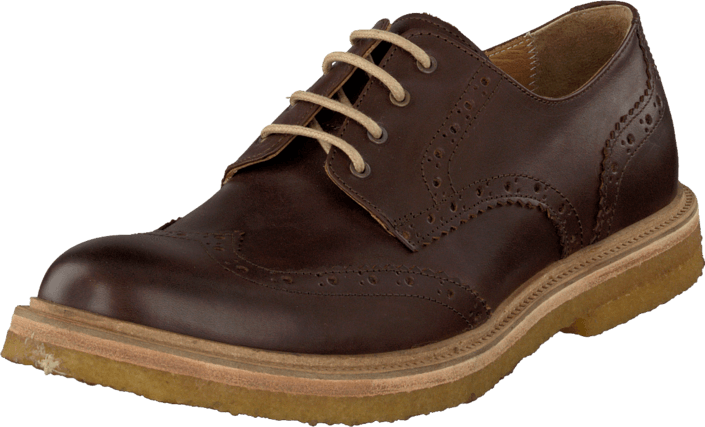 Knowledge Cotton Apparel - British Brogue Shoes Dark Earth