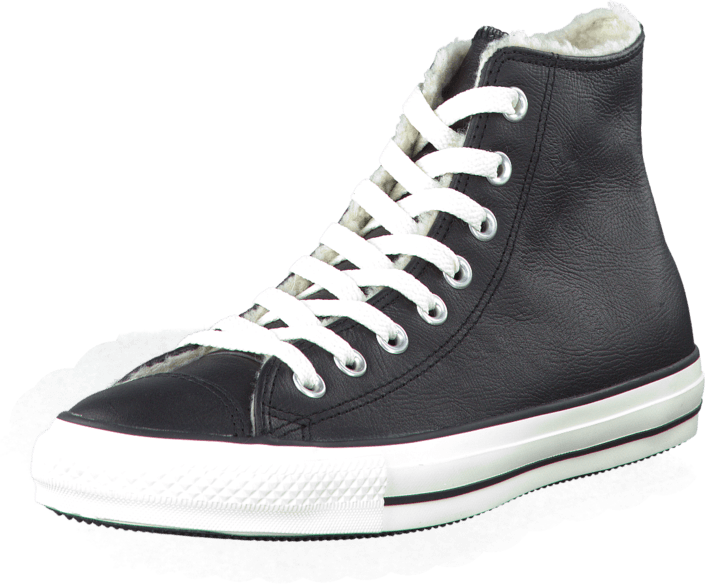 Converse - All Star Leather Shearling Hi Black