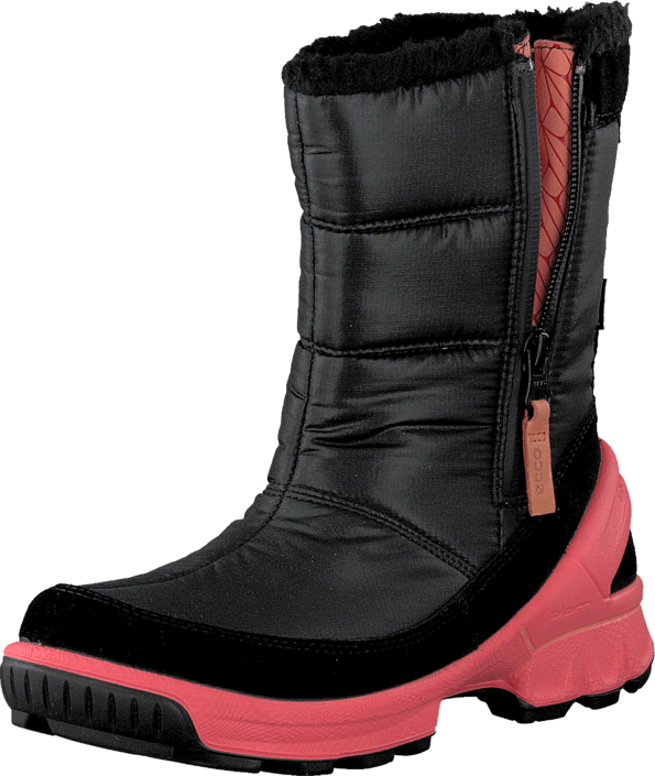 Ecco - BIOM HIKE KIDS BLACK/BLACK/POPPY