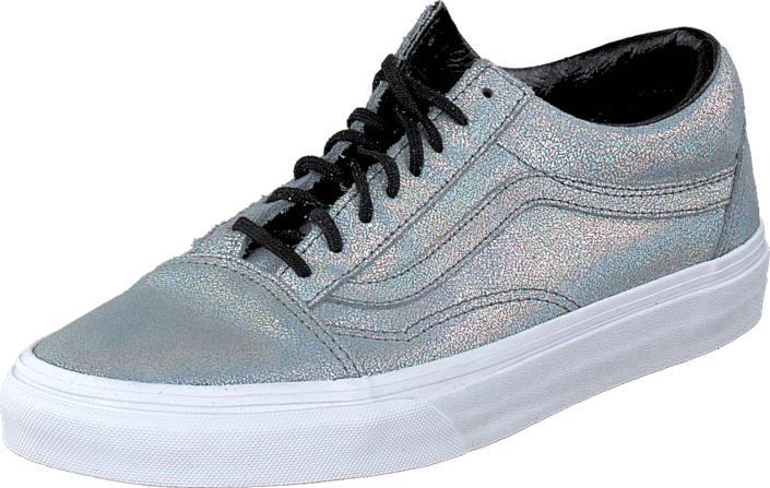 ee748fe74d3c41 Buy Vans Old Skool (Matte Iridescent) Silver blue Shoes Online ...