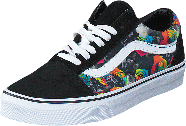 7741c1503503 Buy Vans Old Skool (Rainbow Floral) Black White black Shoes Online ...