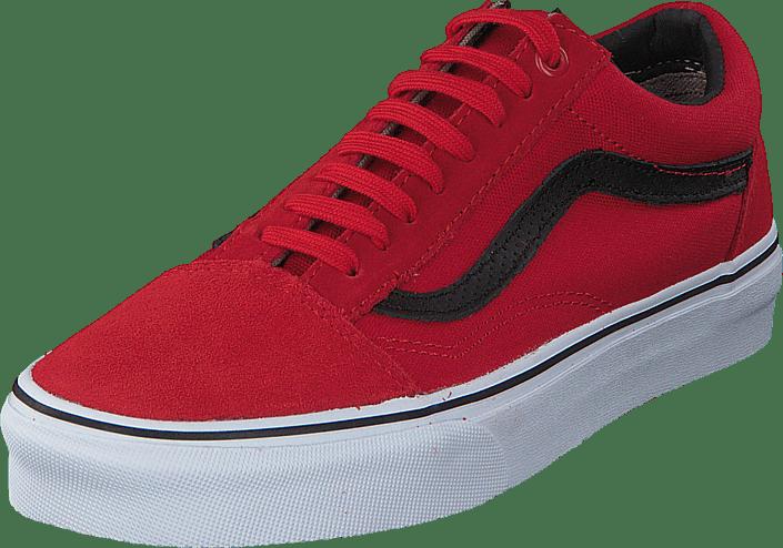 czerwone vansy old skool