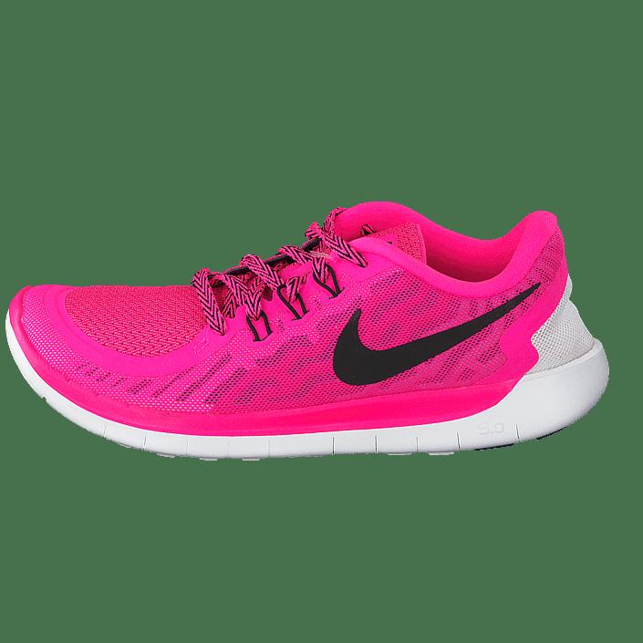 best sneakers ad07a 05f11 sale kjøp nike nike free 5.0 gs pink pow black vivid pink wht rosa sko 4abde