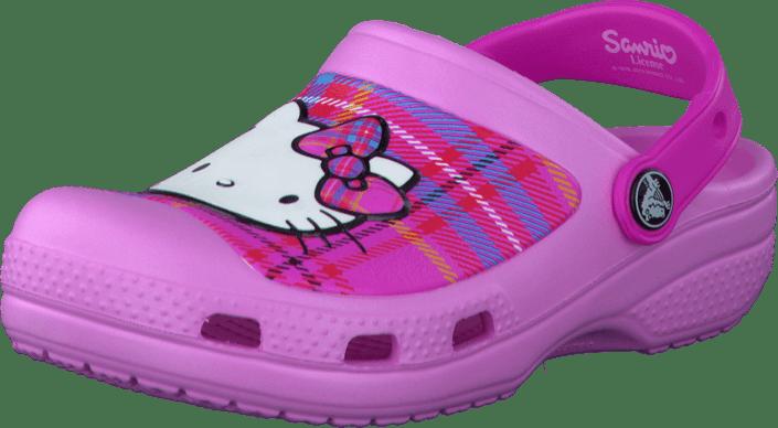 649503c363c Koop Crocs CC Hello Kitty Plaid Clog (EU) Carnation/Neon Magenta ...