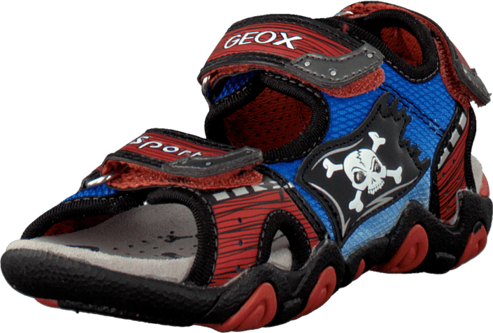 Geox - Jr Sandal Strike Dk Orange/Royal