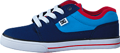 Kids Bristol Canvas Shoe Blue/Red