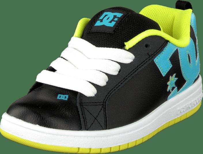 10a91c302d8 Köp DC Shoes Kids Court Graffik Shoe Black/Aqua svarta Skor Online ...