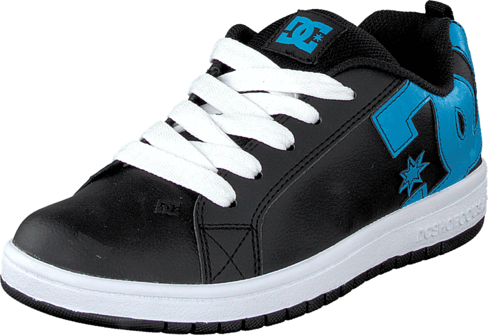 DC Shoes - Kids Court Graffik Shoe Black/Ocean/White