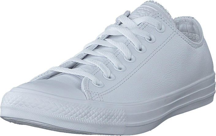 Chuck Taylor All Star Ox Leather White Monochrome