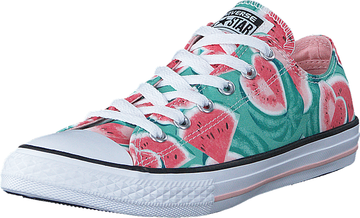 4e9562e4c3fb86 Buy Converse Chuck Taylor All Star Ox Vapor Pink  Green Glow  White ...