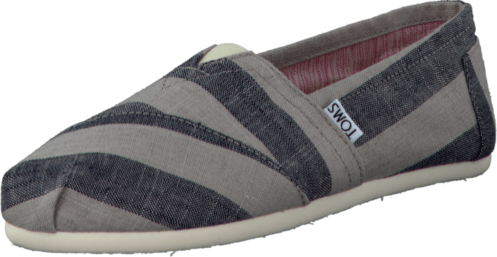 24ad9ca9fe Buy Toms Women's Classics Beige And Navy Stripes Grey Shoes Online ...