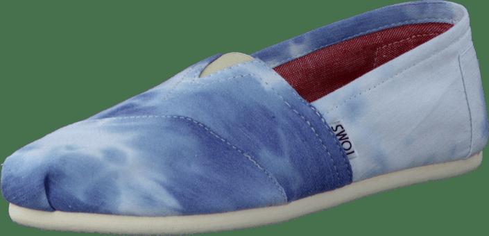 f0bef575 Kjøp Toms Women's Classics Blue Tie-Dyed blå Sko Online   FOOTWAY.no