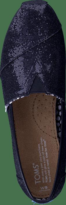 Köp Toms Women s Glitter Black svarta Skor Online  cafbc0d2cdad6