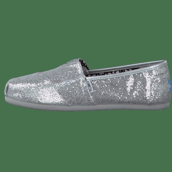 Köp Toms Women s Glitter Silver gråa Skor Online  204be5d451e9a