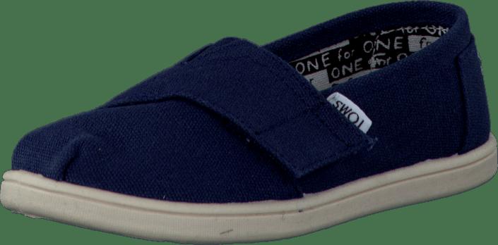 1fa1d2e6 Kjøp Toms Tiny Classics Navy Canvas blå Sko Online   FOOTWAY.no