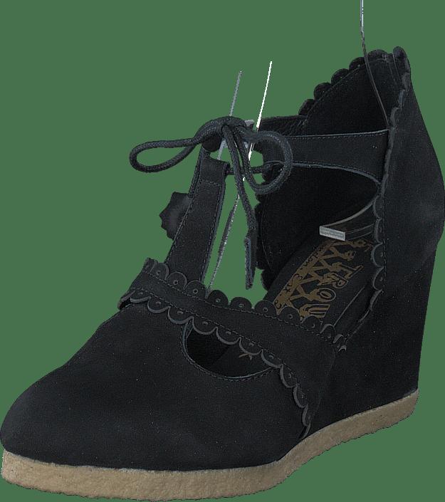Boots troupe T Sorte Online Kjøp Sko strap Wedge F AZxTZqB7