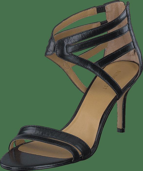 Für Offene Lederschuhe Damen Nine West Schwarze Mit Über 9cm BoexWrdC