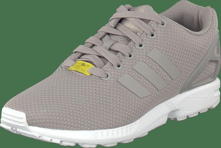 Kjøp Grå White Zx Sko running Flux Adidas Originals Online Sneakers Aluminum OUOSwFgq