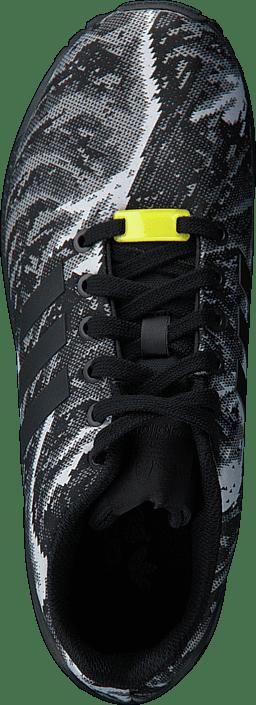 f3228a1f8489b Buy adidas Originals Zx Flux Weave Core Black Bright Yellow black ...