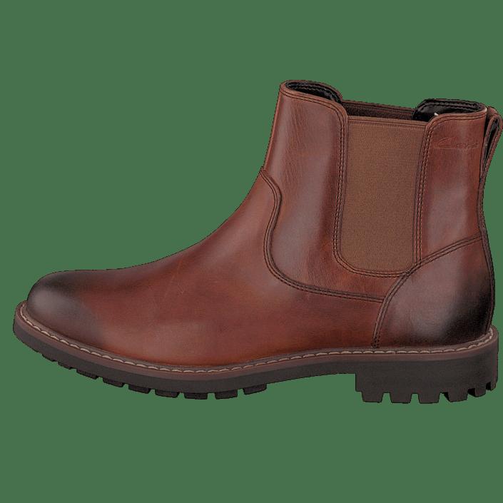 Clarks Montacute Top Dark Tan Lea Schuhe Kaufen Online