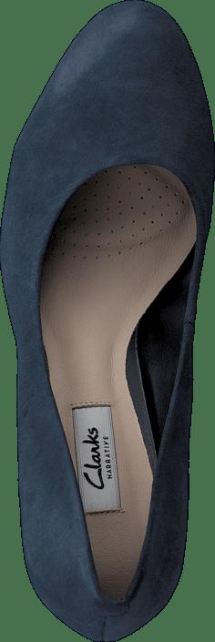 Clarks - Crisp Kendra Navy Suede