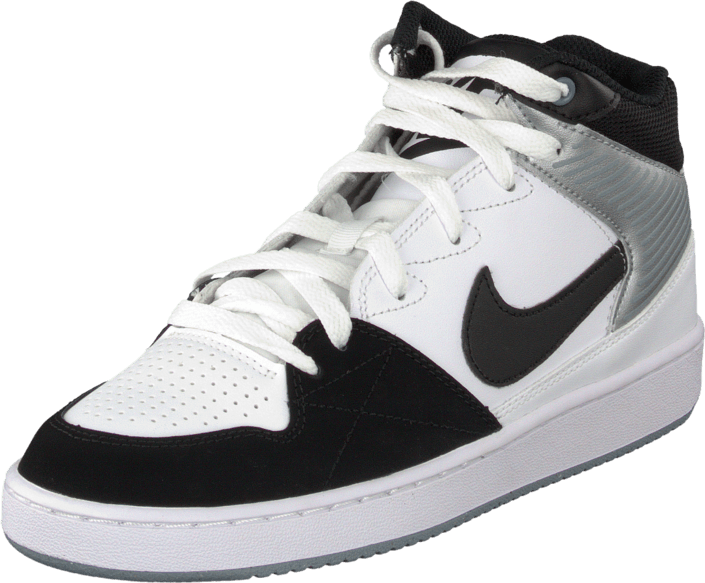 finest selection dc680 c9e1e Nike - Nike Priority Mid White Blk-Mgnt Gry-Mtllc Slvr